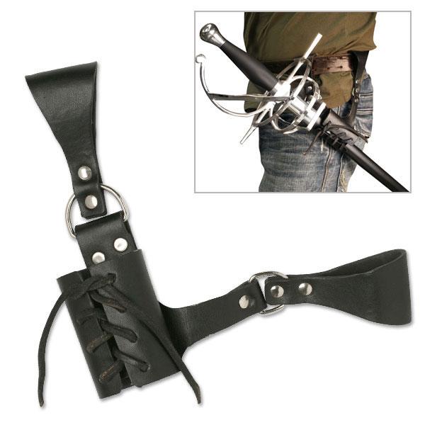 Leather Sword Frog Belt