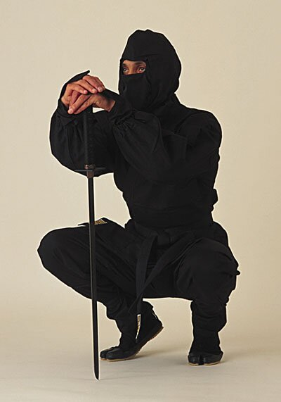 Ninja Uniform - Black Deluxe