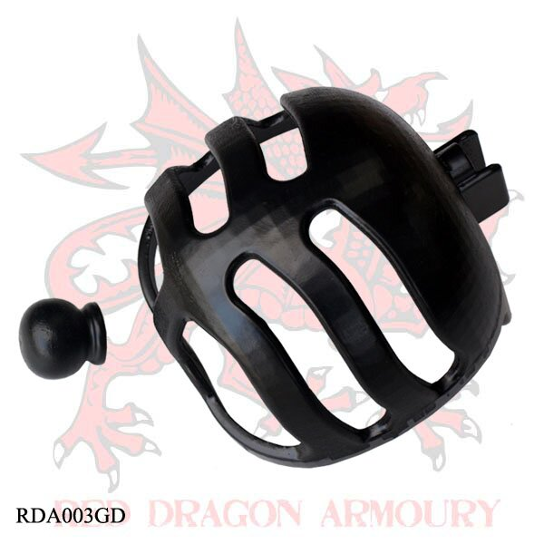 Synthetic Basket Hilt Guard and Pommel Set