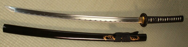 Ten Ryu Hand sharpen Dragon Katana Black