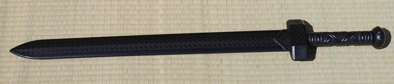 Training gladius sword PP black