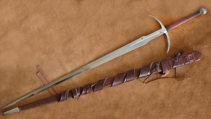 two handed danish forged swordda1352 sharp medieval